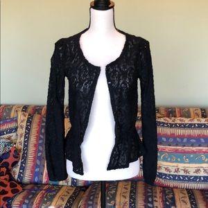 Frenchi black lace cardigan